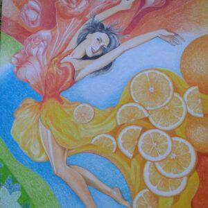 Pomeranče sukně